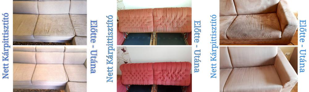 Kanapé, ülőgarnitúra, franciaágy, és bármely egyéb kárpitozott felületű bútor tisztítása Budapesten profi minőségben.