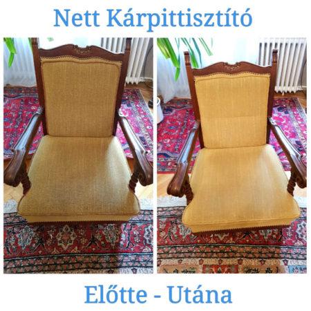 Fotel és szék kárpit tisztítás, ajándék atkamentesítéssel.