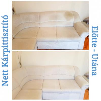 Sarok kanapé tisztítása - Nett Team